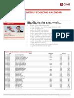 REG - Weekly Economic Calendar - 250113