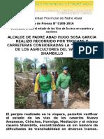Nota de Prensa 2016 - 208