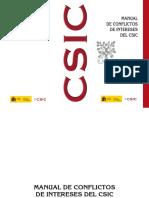 CSIC_Manual de Conflictos de Intereses