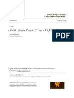 Stabilization of Curtain Coater at High Speeds DOE