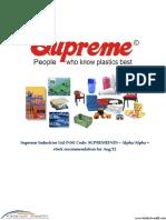 Supremeindustriesltdnsecode Supremeind Aug12katalystwealthalpharecommendation 130124234500 Phpapp01