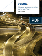 A Roadmap to Accounting for Income Taxes -2015 Edition