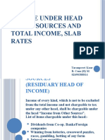 Income Under Head Other Sources and Total Income