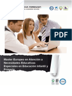 Master Europeo en Atención a Necesidades Educativas Especiales en Educación Infantil y Primaria
