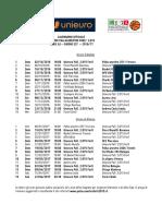 Calendario Solo Partite Unieuro 16 17
