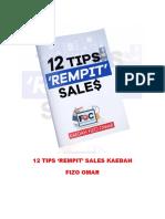 12 Tips Rempit Sales Kaedah Fizo Omar 1