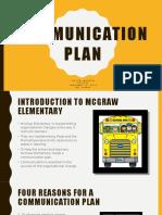cur 560 communication plan