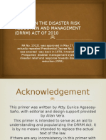 Primer on the Disaster Risk Reduction and Management