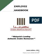 Employee Handbook 2015 Final