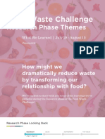 Food Waste Challenge Research Phase Themes