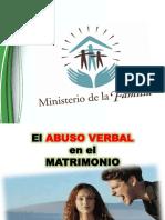 Abuso Verbal EN EL MATRIMONIO