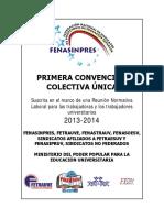 Primera convencion colectiva unica  2013-2014 -Finalmente aprobada y suscrita por el MPPES-.pdf
