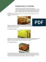 Makanan Khas 34 Propinsi