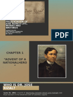 Presentation of Jose Rizal's Life, Works And