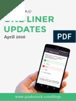 One Liner Updates April 2016 Final