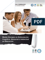 Master Europeo en Estimulación Cognitiva, Sensorial e Intelectual en Educación