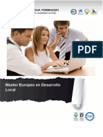 Master Europeo en Desarrollo Local