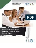 European Master in Global Marketing 3.0. Social Media Strategy Expert