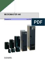 Mm440 Parameter Listt