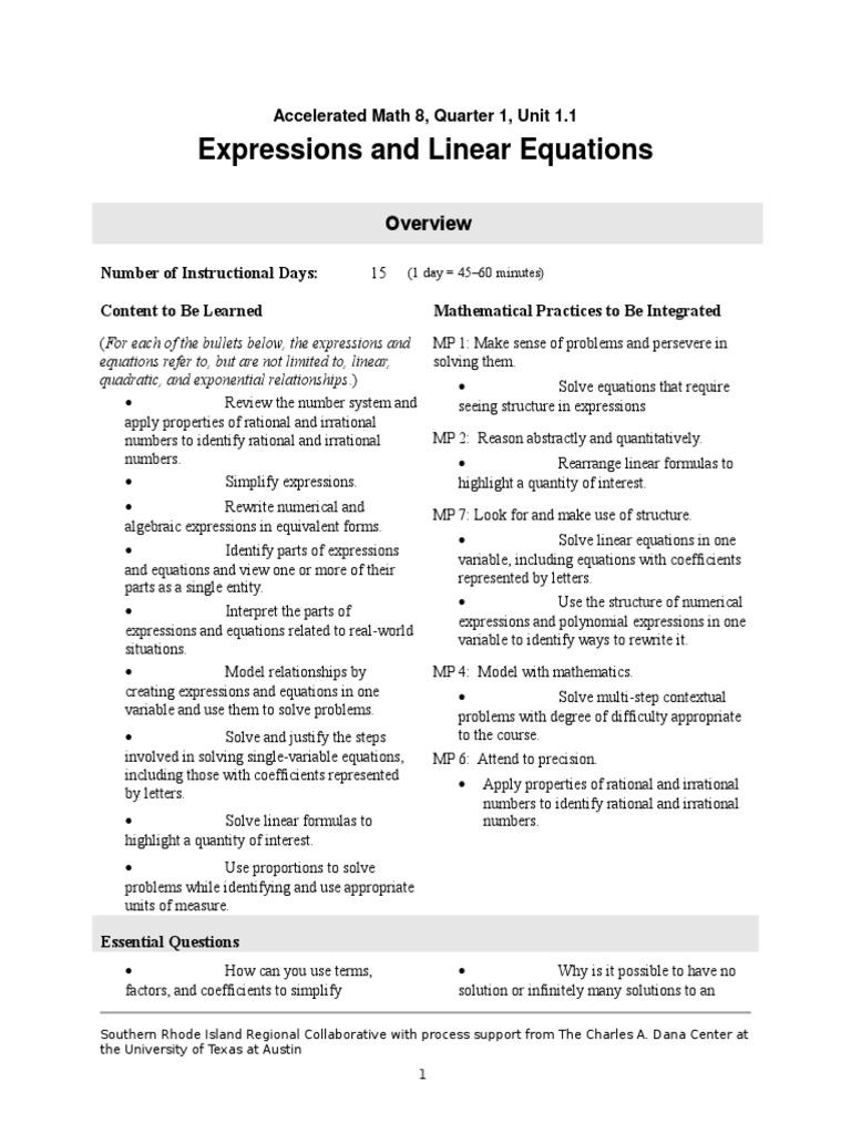 acc 8 1 1 | Equations | Quadratic Equation