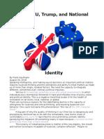 Brexit, EU, Trump, and Political Identity