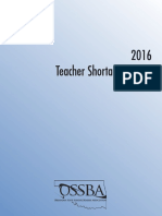 2016 OSSBA Teacher Shortage Report