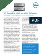 Dell Compellent SC200 and SC220 Enclosures Spec Sheet