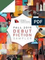 Fall 2016 Debut Fiction Sampler