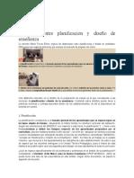"""""""Distinción Entre Planificación y Diseño de Enseñanza"""""""