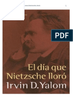 El Dia Que Nietzsche Lloro