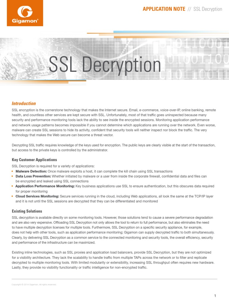 An Ssl Decryption 4035 | Transport Layer Security | Cryptography