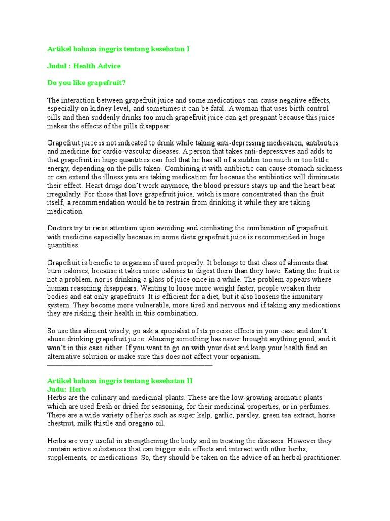 Artikel Bahasa Inggris Tentang Kesehatan Mata Berbagai Mata