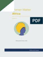 Le rapport de McKinsey sur la place des femmes dans les élites africaines publiques et privées