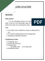 Ratio Anylsis & Finance Basics