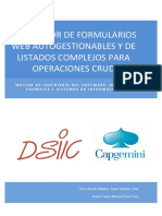 ¿Generador de Formularios Web Autogestionables y de Listados Complejos Para Operaciones Crud