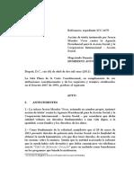 Auto 061-11 - COMPETENCIA en materia de Tutela - COMPETENCIA A PREVENCIÓN