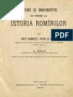 Nicolae Iorga - Studiĭ Și Documente Cu Privire La Istoria Romînilor. Volumul 6 - Cărți Domnești, Zapise Și Răvașe. Partea a 2-A