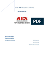 Assignment of Managerial Economy