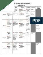 first grade curriculum map 2016-2017