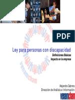 Ley Persnas Con Discapacidad