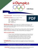 Mini-olympics 2016 Info Sheet