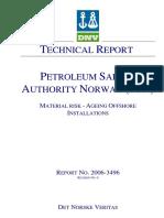 (DNV) Det Norske Veritas - 2005 - Material Risk - Ageing Offshore Installations