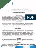 Acuerdo Gubernativo 199-2016 Listado Taxativo