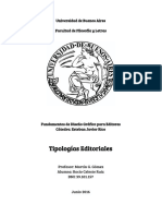 Análisis de tipologías