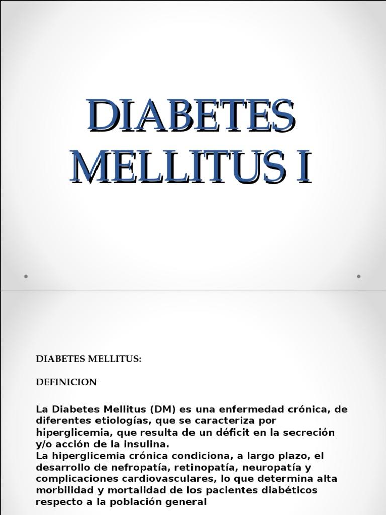 diabetes mellitus ppt definición de patología