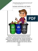 Estudio de Caracterización de Residuos Sólidos Municipales de Tanta