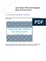 Merubah Margin Antara Teks Dan Pinggiran Kotak Atau Shape Di Word