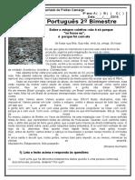 Prova de Português 9º Ano 2º Bimestre