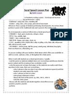 choral speech lesson plan