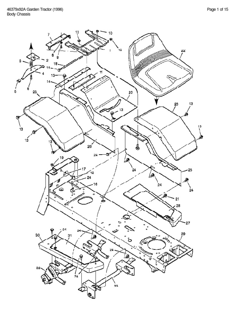 MURRAY-MODEL-46379X92A-GARDEN-TRACTOR-(1996)-PARTS-LIST